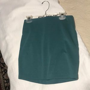 Dark teal mini skirt
